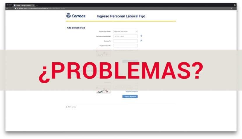 problemas inscripcion correos