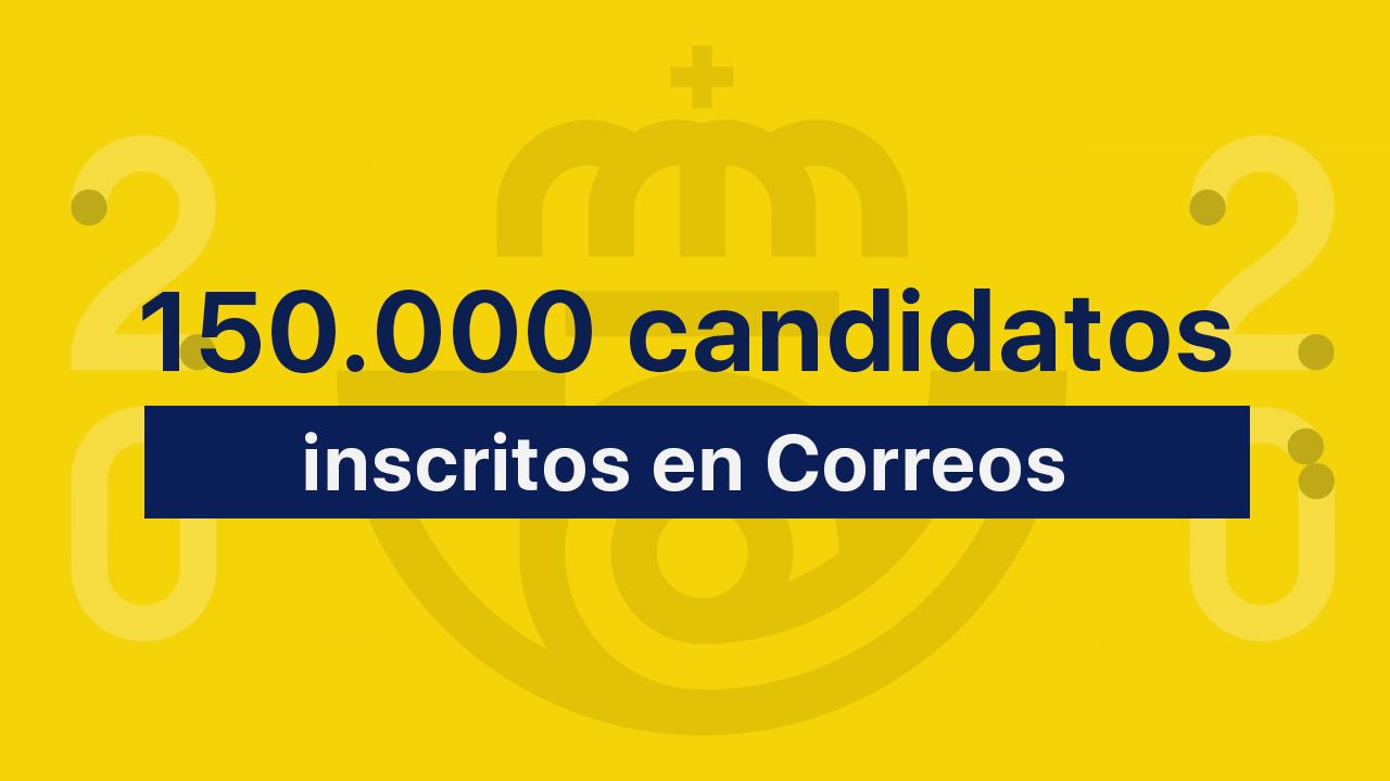 150000 candidatos oposiciones correos