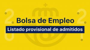 Bolsa Empleo Correos listado provisional de admitidos